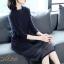 เดรสเกาหลี พร้อมส่ง Dress คอกลม แขนยาว ทรงตรง thumbnail 3
