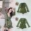 เสื้อผ้าเกาหลี พร้อมส่ง จั๊มสูทสีเขียว ผูกโบว์ข้าง thumbnail 8