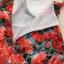 เดรสเกาหลี พร้อมส่ง แม็กซี่เดรส ผ้าไหมญี่ปุ่น ลายกุหลาบสีแดง thumbnail 8