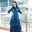 ชุดเดรสเกาหลี พร้อมส่ง Maxi Dress ยีนส์ระบาย thumbnail 2