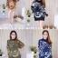 เสื้อเกาหลี พร้อมส่ง เสื้อไหมพรม พิมพ์ลายทั้งตัว thumbnail 10