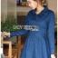 ชุดเดรสเกาหลี พร้อมส่ง เชิ้ตเดรส ผ้าเดนิมสีน้ำเงิน thumbnail 4