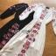 ชุดเดรสเกาหลี พร้อมส่ง เดรสยาว ลายดอกไม้สไตล์โบฮีเมียน thumbnail 13