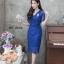 ชุดเดรสเกาหลี พร้อมส่ง Dress ลูกไม้คอวี thumbnail 4