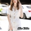 เดรสเกาหลี พร้อมส่ง Dress ทรงสูท มาพร้อมเข็มขัด thumbnail 3