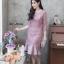 ชุดเดรสเกาหลี พร้อมส่ง Dress ลูกไม้ระบายชาย thumbnail 1