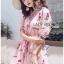 เสื้อเกาหลี พร้อมส่ง เสื้อผ้าคอตตอนปักลายดอกกุหลาบ thumbnail 2