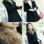 เสื้อเกาหลี พร้อมส่ง เดรสโค๊ทขนเฟอร์ thumbnail 11