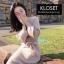 ชุดเดรสเกาหลี พร้อมส่ง Dress ผ้าไหมพรมงาน Knit thumbnail 3