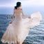 พร้อมส่ง Maxi dress เปิดไหล่แขนยาว thumbnail 1