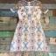 ชุดเดรสเกาหลี พร้อมส่ง Dress ผ้าแก้วปักลูกไม้ลายดอก thumbnail 18