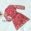 เดรสแฟชั่น พร้อมส่ง เดรสสีแดง แขนจั๊ม ลายดอกไม้ thumbnail 6