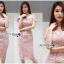 เดรสเกาหลี พร้อมส่ง เดรสผ้าลูกไม้สีขาวทรงเปิดไหล่ thumbnail 1