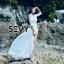 พร้อมส่ง Maxi dress ยาวสีขาว ผ้ามุ้ง thumbnail 2