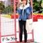 เสื้อเกาหลี พร้อมส่ง แจ๊คเก็ตยีนส์ฟอกเท่ๆ ทรงใหญ่ thumbnail 15