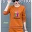 เสื้อผ้าแฟชั่นเกาหลี พร้อมส่ง ชุด Set เสื้อคอกลม thumbnail 4