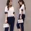 เสื้อผ้าเกาหลี พร้อมส่ง เสื้อคอกลมกับกางเกง 9 ส่วน thumbnail 1