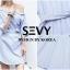 พร้อมส่ง Mini dress รายริ้วฟ้าสลับขาว thumbnail 5
