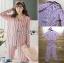 เสื้อผ้าเกาหลี พร้อมส่ง ชุดนอน เชิ้ต และกางเกงลายทาง thumbnail 11