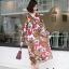 ชุดเดรสเกาหลี พร้อมส่ง เดรสลายดอก คอวี ผ้าพริ้ว thumbnail 13