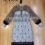 Dress ชุดเดรสเกาหลี พิมพ์ลายริ้ว พร้อมส่ง thumbnail 2