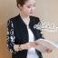 เสื้อเกาหลี แจ็กเก็ตสีดำ พร้อมส่ง thumbnail 4