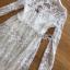 เดรสลูกไม้ พร้อมส่ง เดรสผ้าลูกไม้สีขาว ผ้าโปร่งซีทรู thumbnail 10