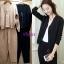 เสื้อเกาหลี คอวี แต่งห่วงกับกางเกง พร้อมส่ง thumbnail 7