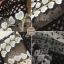 ชุดเดรสเกาหลี พร้อมส่ง เดรสยาว เนื้อผ้าตาข่ายsee through thumbnail 7