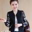 เสื้อเกาหลี แจ็กเก็ตสีดำ พร้อมส่ง thumbnail 5
