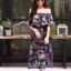 ชุดเดรสเกาหลี พร้อมส่ง Dress ปริ้นลายใบไม้ thumbnail 3