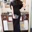 พร้อมส่ง ชุดเดรสสีดำ ผ้าหางกระรอกญี่ปุ่นเนื้อนิ่มลื่น thumbnail 5
