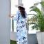 ชุดเดรสเกาหลี พร้อมส่ง Maxi Dress ลายดอก thumbnail 8