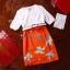 พร้อมส่ง เสื้อเป็นผ้าลูกไม้สีขาวเนื้อดีเนื้อผ้ายืดได้ thumbnail 2