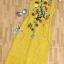 พร้อมส่ง ชุด Maxi Dress สีเหลืองแขนกุด thumbnail 6