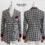 เสื้อผ้าเกาหลี พร้อมส่ง blazer set ลายสก็อต thumbnail 10