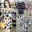 เดรสเกาหลี พร้อมส่ง Mini dress ไหมพรมทรงสวย thumbnail 1