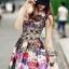 พร้อมส่ง เดรส Korea Style ลายผ้าสวย thumbnail 3