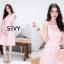 พร้อมส่ง Dress งานเรียบหรู สวย เดรสผ้าตาข่าย thumbnail 6