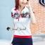 เสื้อผ้าเกาหลี พร้อมส่ง เสื้อยืดกับกางเกงเอวสม็อค thumbnail 7