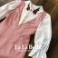เสื้อผ้าเกาหลี พร้อมส่ง เสื้อเชิ้ตคอปกปักดอกกุหลาบ thumbnail 5