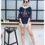 เสื้อเกาหลี ทรง a คอปาด พร้อมส่ง thumbnail 4