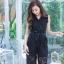 เสื้อผ้าแฟชั่นเกาหลี Jump Suit คอวี พร้อมส่ง thumbnail 6