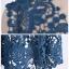 พร้อมส่ง เดรสผ้าถักโครเชต์สีน้ำเงินเข้ม thumbnail 18