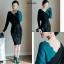 ชุดเดรสเกาหลี พร้อมส่ง Dress 2 tone thumbnail 5