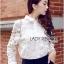 พร้อมส่ง เสื้อแฟชั่น เสื้อเกาหลี เชิ้ตขาวผ้าตาข่าย thumbnail 5
