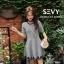 พร้อมส่ง Mini dress คอกลม แขนสั้น thumbnail 1