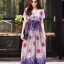ชุดเดรสเกาหลี พร้อมส่ง Maxi dress ผ้าสปันเนื้อดีปริ้นลายสวย thumbnail 7
