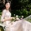 พร้อมส่ง Long dress สีชมพูโอรส แขน 5 ส่วน thumbnail 1
