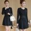 พร้อมส่ง Mini dress เรียบร้อยสีดำ thumbnail 2